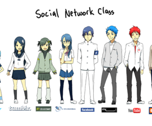social network, tumblr, and twitter image