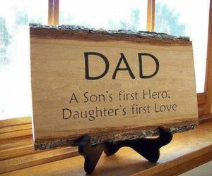dad, hero, and daughter image