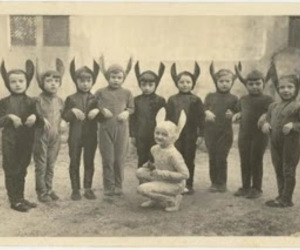 costumes, kids, and rabbits image
