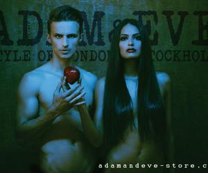 adam and eve, apple, and fashion image