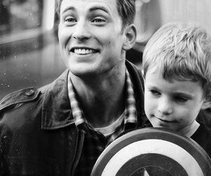 chris evans, captain america, and boy image