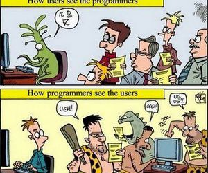computer, funny, and nerd image
