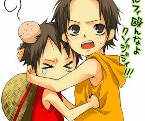 ace, one piece, and yaoi image