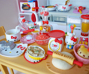 hello kitty, cute, and kitchen image