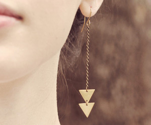 earrings, accessories, and triangle image