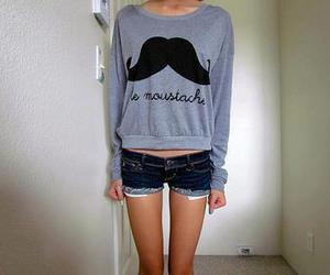 moustache, mustache, and shorts image