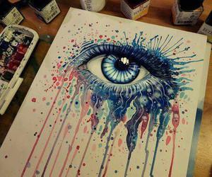 eye, art, and drawing image
