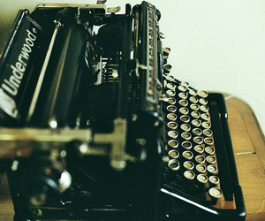 typewriter, old, and vintage image