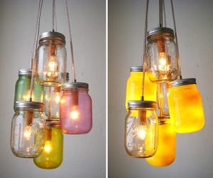 jar, lamp, and diy image