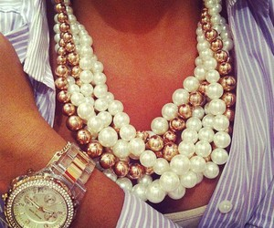 girl, glam, and necklace image