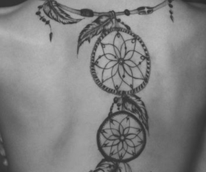 tattoo, dreamcatcher, and back image