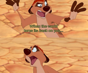 timon, lion king, and quote image