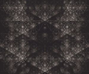 black and white and geometric image