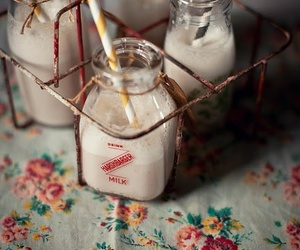 milk, vintage, and food image