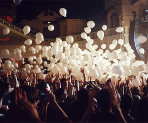 balloons, party, and white image