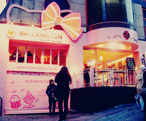 hello kitty, cute, and cafe image