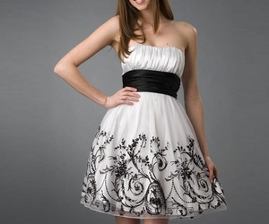 blanco, chicas, and dress image