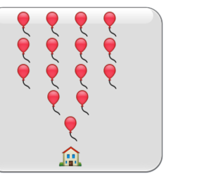 balloons, funny, and house image
