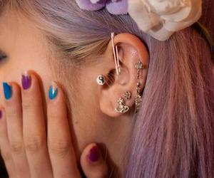 ear, fashion, and flowers image