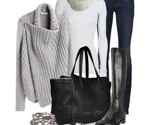 accessories, bags, and jeans image