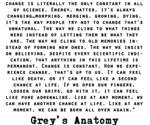 grey's anatomy, quote, and change image