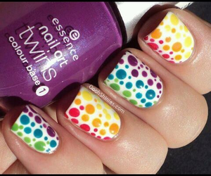 colorful, nails, and purple image