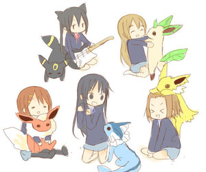 k-on and pokemon image