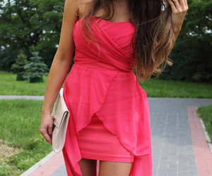bright pink, style, and dress image