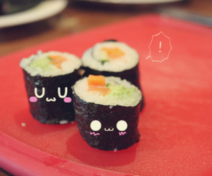sushi, kawaii, and cute image