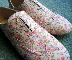 floral, shoes, and flowers image