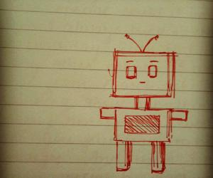 doodles, robot, and sketch image