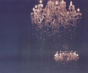 vintage, light, and chandelier image