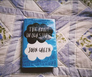 book, john green, and the fault in our stars image