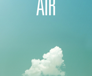 air, blue, and quotes image
