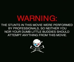 3d, jackass, and warning image