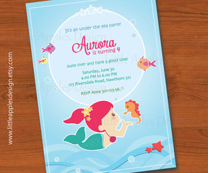 ariel, baby, and birthday image