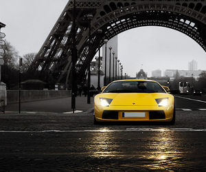 car, paris, and yellow image