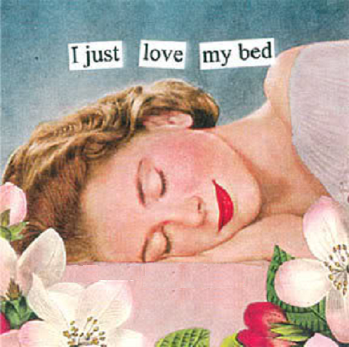 bed, vintage, and sleep image
