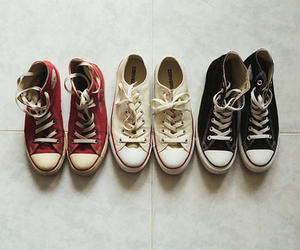 converse, shoes, and red image