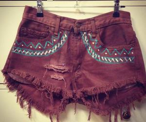 shorts, aztec, and fashion image