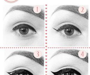 diy, eye liner, and eye make up image