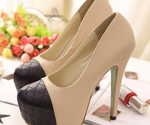 shoes, bottom, and high-heeled image