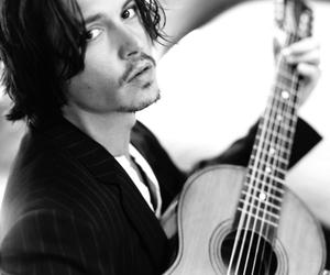 johnny depp, guitar, and sexy image