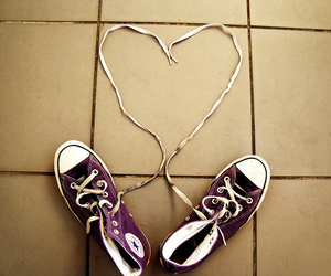converse, love, and heart image