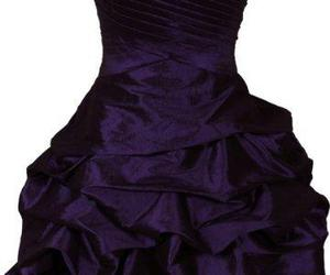 dress, purple, and cute image