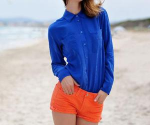 fashion, beach, and blue image