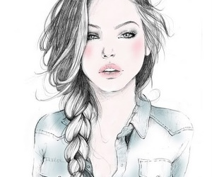 beauty, girly, and braid image
