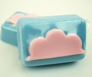 blue, cotton candy, and soap image