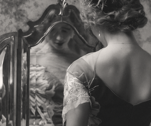 black and white, vintage, and mirror image