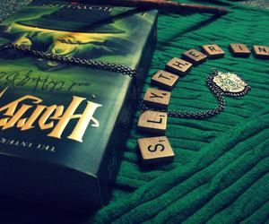 harry potter, slytherin, and book image